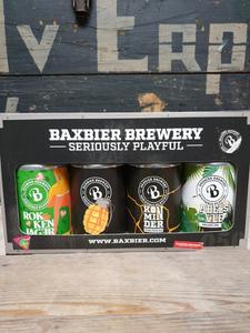 Baxbier Geschenkverpakking Blik 4x33cl