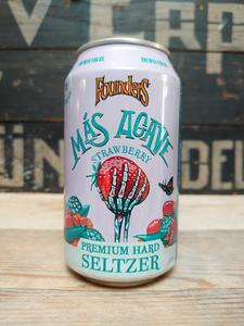 Founder Más Agave Strawberry Premium Hard Seltzer Van Erp Dranken